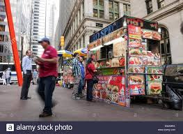Halal Food Truck In The Streets Of New York City, Financial District ...