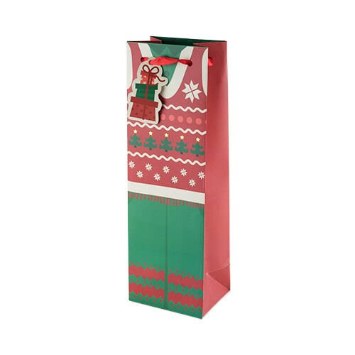 Cakewalk 5939 Ugly Sweater Wine Bag, Red
