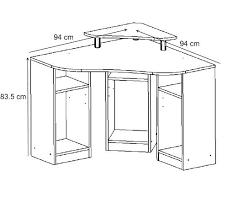 plateau de bureau d angle bureau d angle informatique contemporain coloris blanc romane