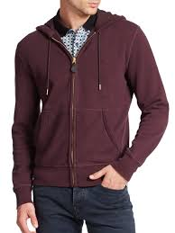 burberry brit pearce knit hoodie in purple for men lyst