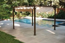 Patio Umbrellas Walmart Canada by Hometrends Retractable Shade Pergola Beige Walmart Canada