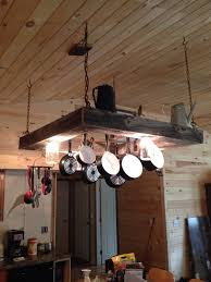 7 best rustic light pot and pan rack the kitchen island
