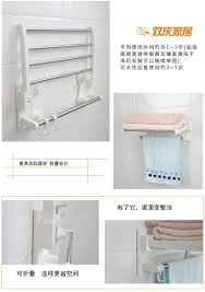 Bathroom Towel Bar With Shelf by Foldable Aluminum Towel Bar Set Rack Tower Holder Hanger Sucker