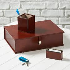 Leather Desk Blotter Australia by Personalised Cambridge Leather Desk Set By Ginger Rose
