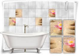 details zu fliesen aufkleber see sand steine wellness spa beige fliesen bad wc deko