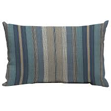 Decorative Lumbar Throw Pillows by Shop Allen Roth Blue And Striped Rectangular Lumbar Pillow
