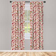 gardine fensterbehandlungen 2 panel set für wohnzimmer schlafzimmer dekor abakuhaus weihnachten weihnachtsmann kaufen otto