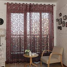 Amazon Uk Living Room Curtains by Voile Pattern Panel Curtains Amazon Co Uk