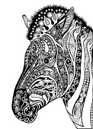 Adult Zebra Coloring Pages