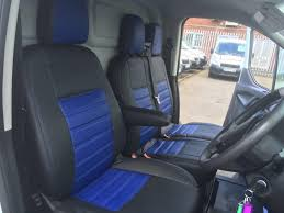 Ford Transit Custom Seat Covers - Blue - VanPimps