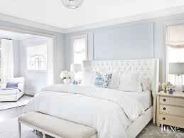 Soft Light Blue Master Bedroom With Pillow Touches