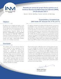 Instituto Nacional De Metrología Propuesta De Proyecto Del Plan