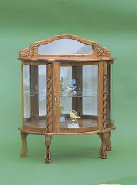 Curved Glass Curio Cabinet by Short Twist Curio Cabinet From Dutchcrafters Amish Furniture