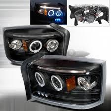 2005 2008 dodge dakota halo led projector headlight black 1 pair