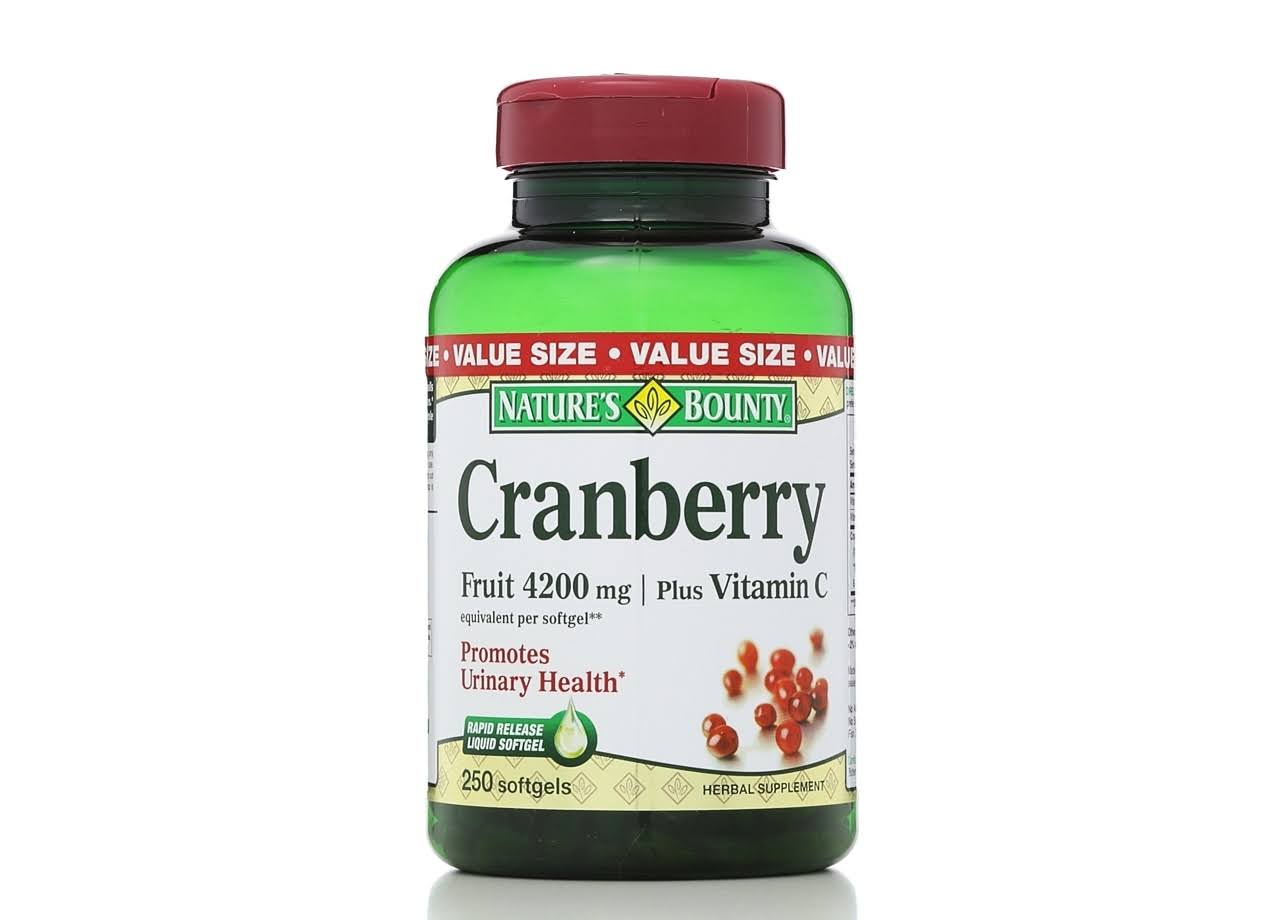 Nature's Bounty Cranberry with Vitamin C Supplement - 250 Softgels