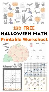 Halloween Multiplication Worksheets Grade 5 by 250 Free Halloween Math Printable Worksheets