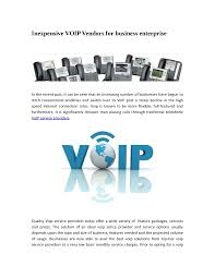 Inexpensive VOIP Vendors For Business Enterprise |authorSTREAM