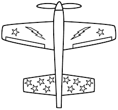 Download Coloring Pages Airplane With Stars Page Military Gallery Ideas