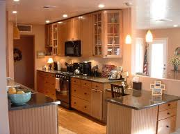 Rustic Galley Kitchen Design And Decorating Ideas With Wooden Furniture Gallery Also Dark Deocrative Lighting
