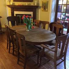 Just Reduced Solid Oak Pedestal Dining Table With 7 Chairs And Matching Buffet