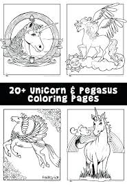 Unicorn With Wings Coloring Pages Woo Jr Kids Activities Barbie