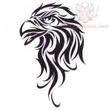 Tribal Eagle Tattoo Design Mexican Tattoos