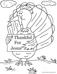 Thankful Coloring Pages Turkey Holding Sign For Jesus Page Sheets