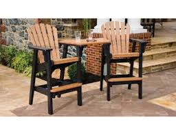 Recycled Poly Lumber Coastal Chairs Bar Height With Tete A