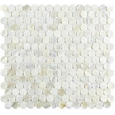 Merola Tile Conchella Mini Penny White 11 1 2 In X 12