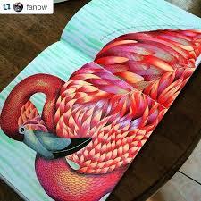 Flamingo From Animal Kingdom Colouring Book Mais