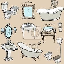 eine skizze für das badezimmer im klassischen stil interieur bilder myloview