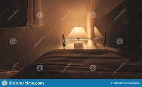 gemütliches gelbes licht das der le abends im