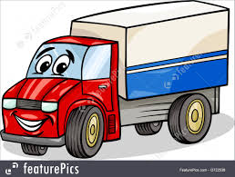 Auto Transport: Funny Truck Car Cartoon - Stock Illustration ...