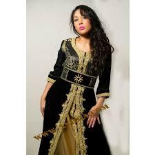 robe orientale en velours noir pas cher