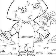 Dora And Circus Surprised The Explorer Coloring Page