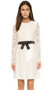 jill jill stuart long sleeve lace dress in white lyst