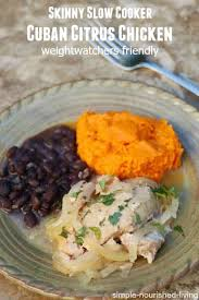 Skinny Slow Cooker Cuban Chicken With Citrus