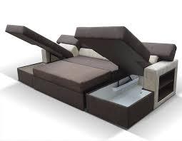 canapé avec méridienne convertible canap angle avec couchage et nombreux rangements within canapé