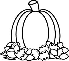 Pumpkin black and white pumpkin with fall leaves clipart black and