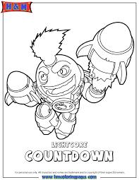 Skylanders Swap Force Tech Lightcore Countdown Coloring Page
