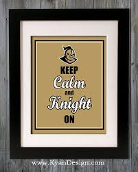 UCF Golden Knights Keep Calm Print By KyanDesign 995