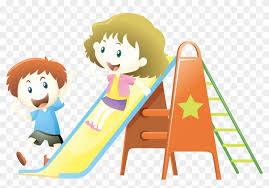 Child Playground Slide Illustration