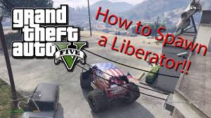 How To Spawn A Liberator (Monster Truck) On GTA 5 Story Mode ... Grand Theft Auto 5 Gta V Cheats Codes Cheat Ford F150 Ext Off Road 2007 For San Andreas Cell Phone Introduction Grand Theft Auto 13 Of The Best To Get Your Rampage On Stock Car Races And Cheval Marshall Unlock Location Vehicle Mods Dodge Gta5modscom Tutorial How Get A Rat Rod Truck Rare Vehicle Youtube Ps4 Central Tow Truck Spawn Ps4xbox Oneps3xbox 360