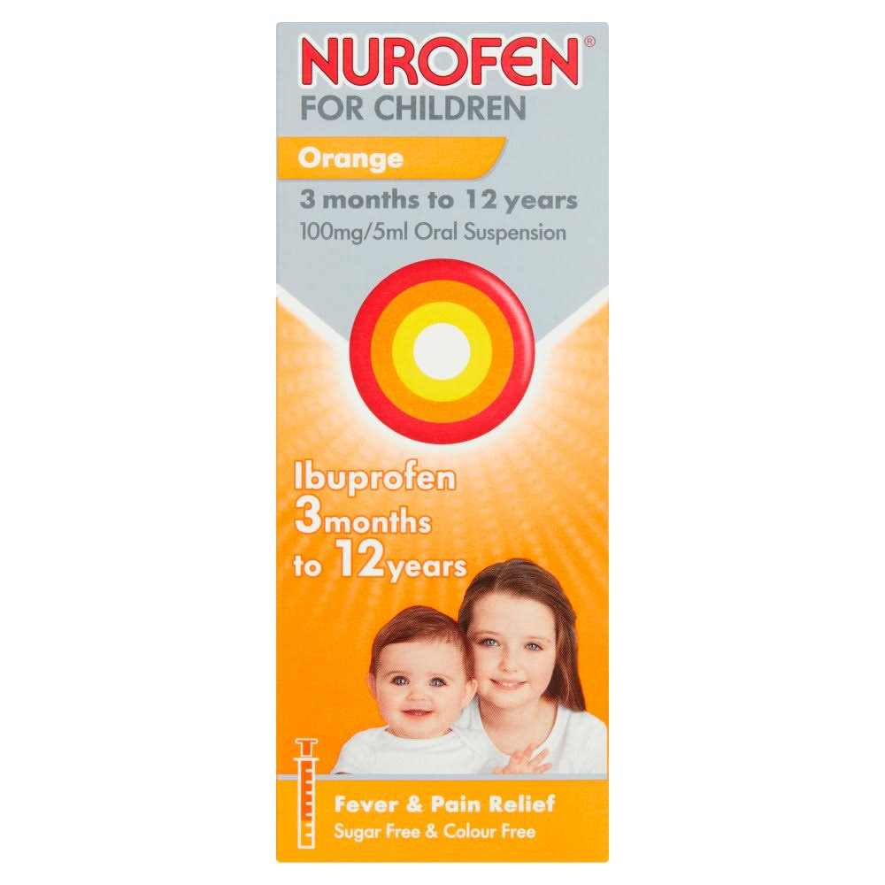 Nurofen for Children Oral Suspension - Orange, 100mg/5ml