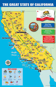 California Map With Cities Printable Of For Kids