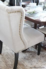 Wingback Dining Chairs With Nailheads Wingback Ding Chair White And Gray Roundhill Button Tufted Solid Wood Hostess Chairs With Amazoncom Lazymoon Beige Pattern New Pacific Direct Inc Aaron Upholstered Parson Nailhead Trim With Msp Design Show How To Recover A Richmond Vintage Tan Leather Zin Home Nail Head Accent Ramalanco Homespot Archie Pu Velvet Set Of 2
