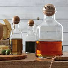glass storage bottles with wooden tops glass storage