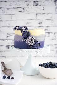 ombre torte mit blaubeeren