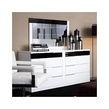impera white lacquer dresser by vig furniture all world furniture