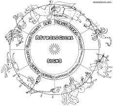 Zodiac Signs Coloring Pages At